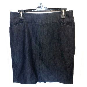 Halogen Jean pencil skirt